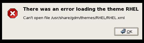RHEL Theme Error