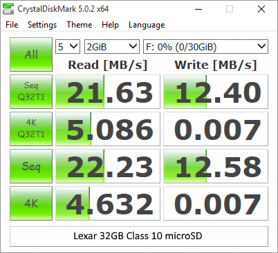 Lexar 32GB Class 10 microSD