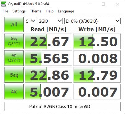 Patriot 32GB Class 10 microSD