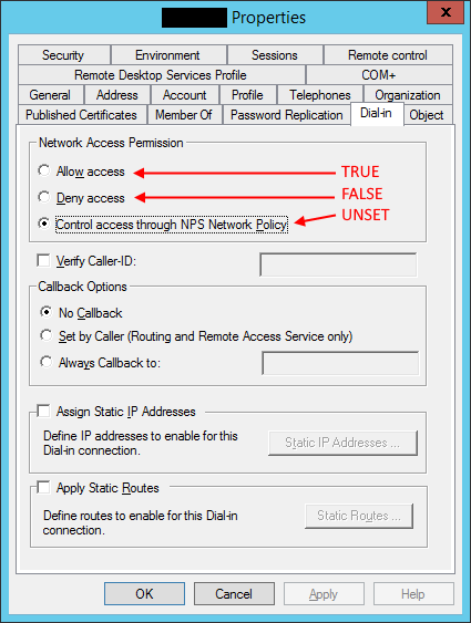 Some users cannot login to new NPS based VPN server | The