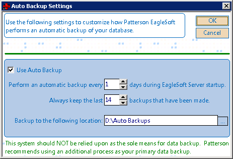 Patterson EagleSoft v18 crashing during auto-backups | The Picky ...